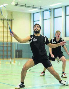 Badminton TSV Korbach; Doppel Ahmad Bouzi (links) und Dominik Imöhl. Foto: aw